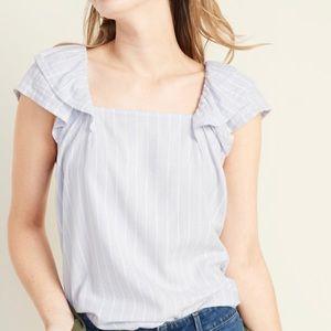 Old Navy Striped flutter-sleeve shirt
